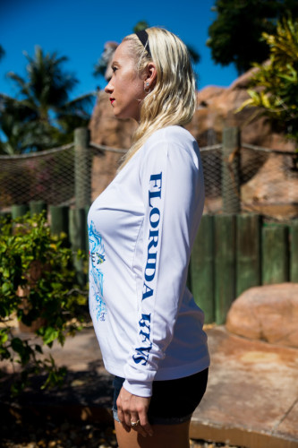Ladies long sleeve anchor side view