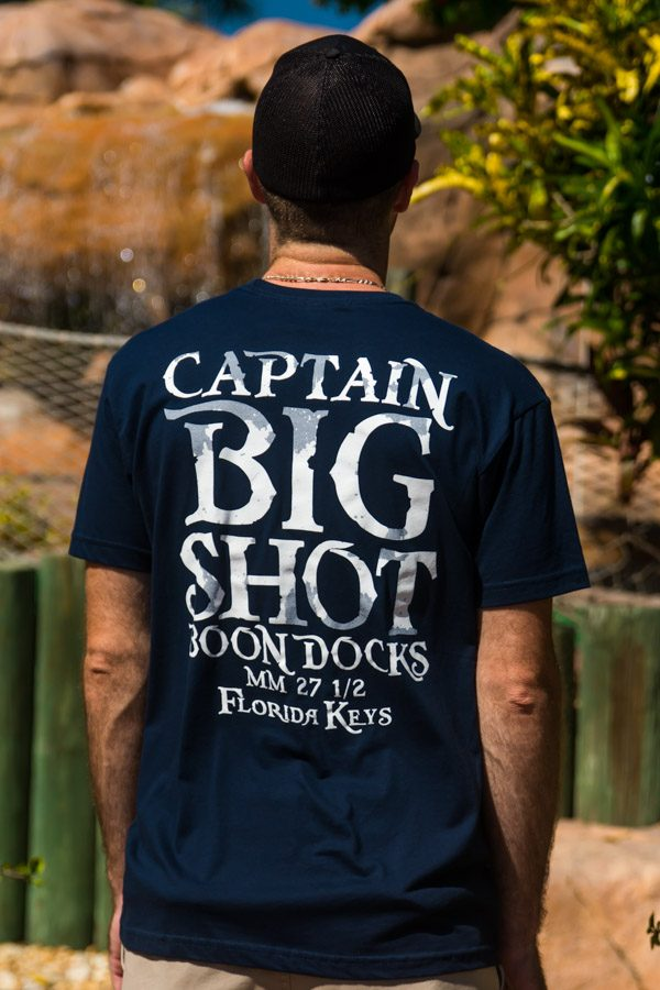 Captain Big Shot short sleeve navy blue tee shirt