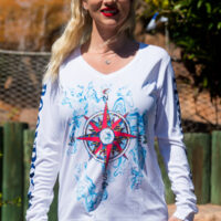 Ladies LS Compass UPF shirt