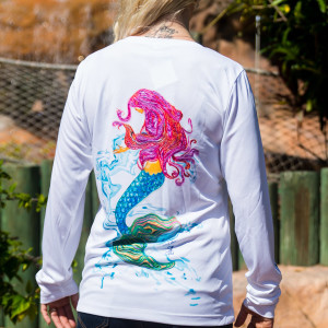 ladies Long sleeve UPF mermaid shirt