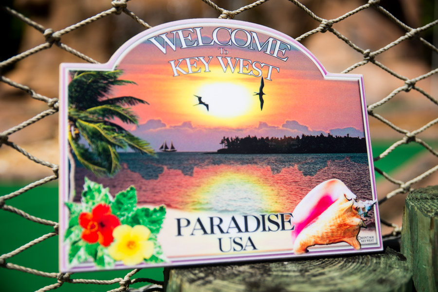 Welcome to Key West paradise small sign