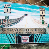End of the road small sign
