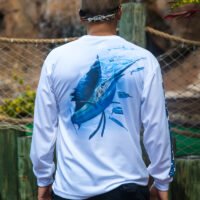 long sleeve sailfish UPF shirt