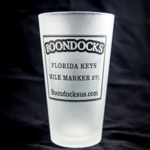 Boondocks frosted pint glass