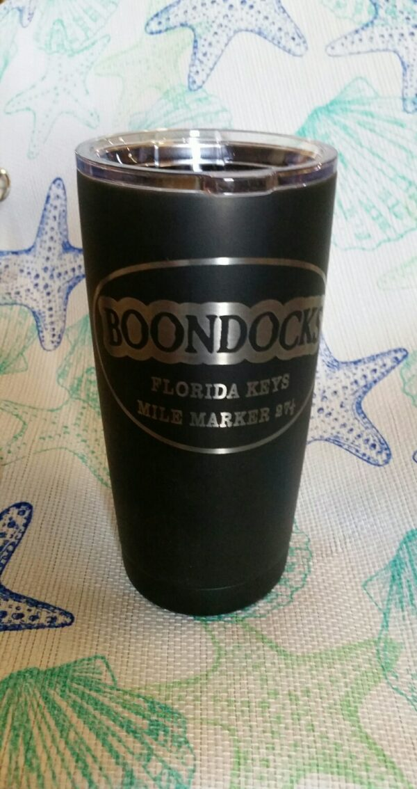 Boondocks Polar Camel 20 oz. cup. Double wall thermal vacuum insulation BPA free. Snap on clear lid.