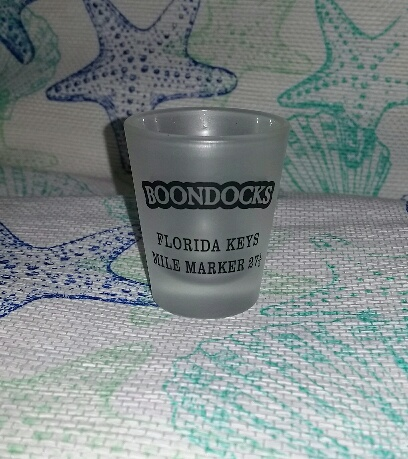 Boondocks Shot Glass With embossed Boondocks logo