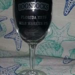 Boondocks wine glass with logo imprint