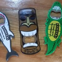 Boondocks magnetic bottle opener Alligator, Tiki, or Shark