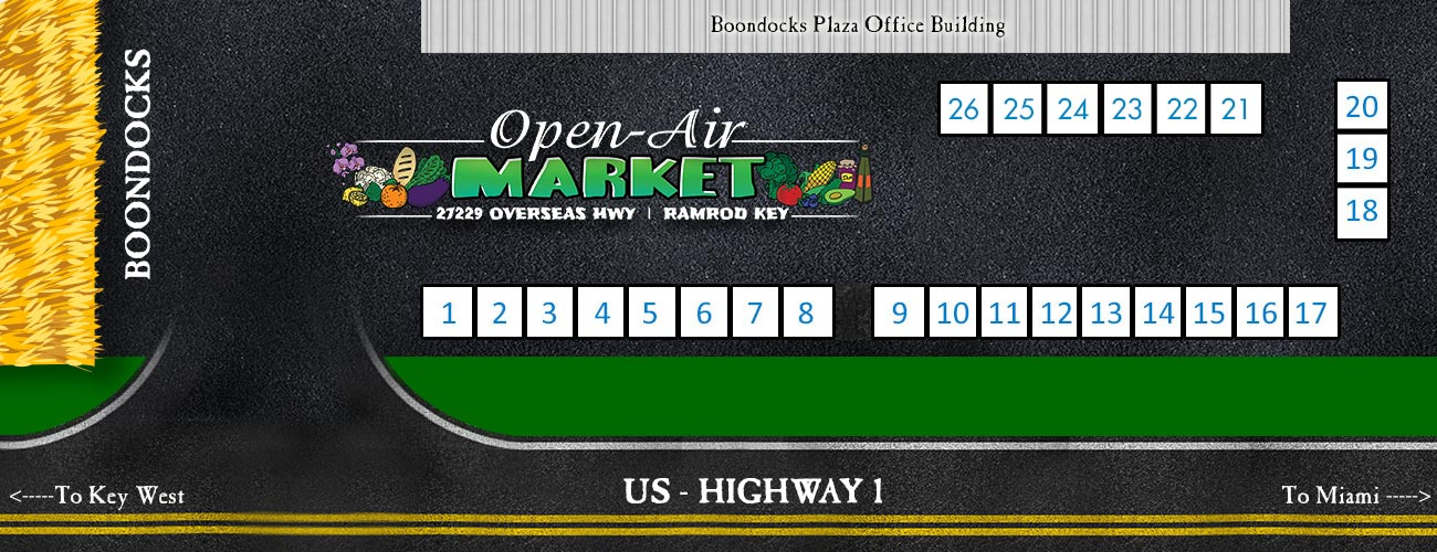 Boondocks Open Air Market Map