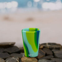 Silipint Shot Glass - Sea swirl Greens