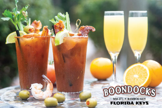 Picture of two Bloody Marys and two Mimosas
